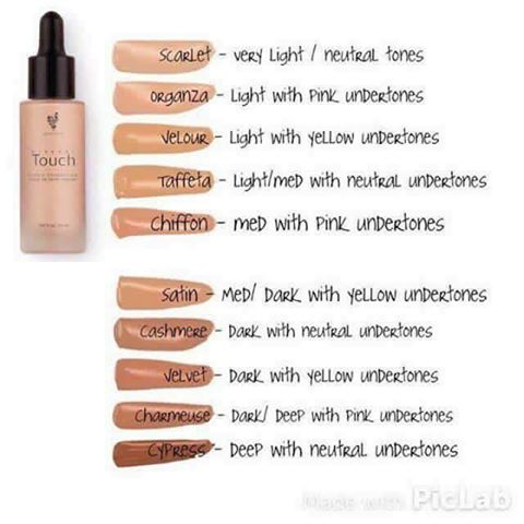 Touch Mineral Liquid Foundation Colors and Swatches