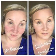 Touch Mineral Liquid Foundation Befor and After