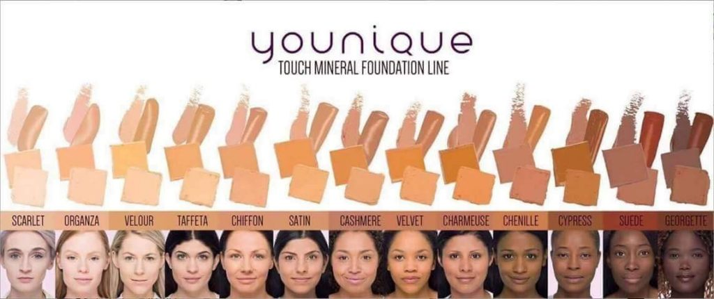 Younique Touch Liquid Foundation All Colors On Models