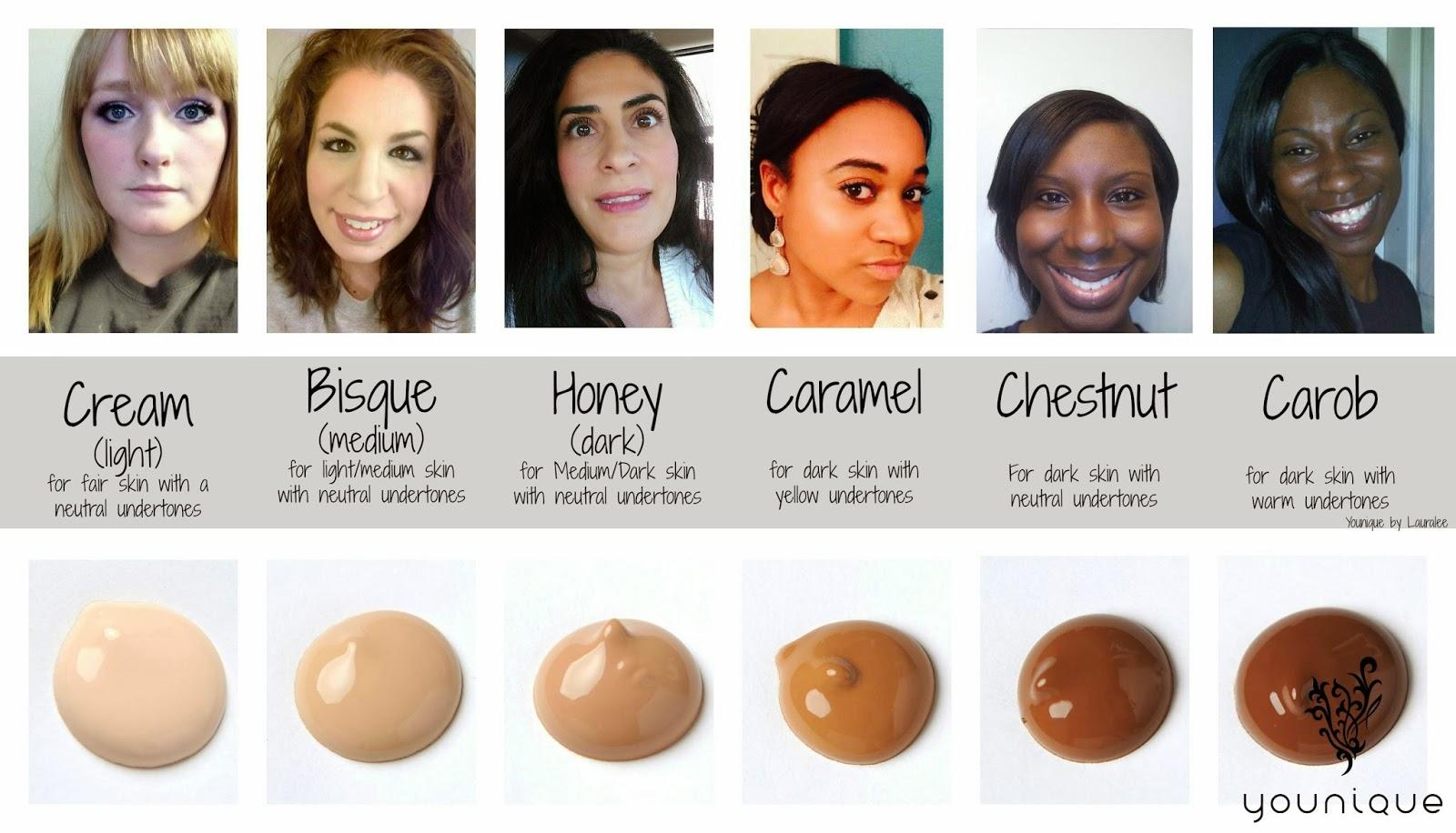 Younique BB Cream Color Chart