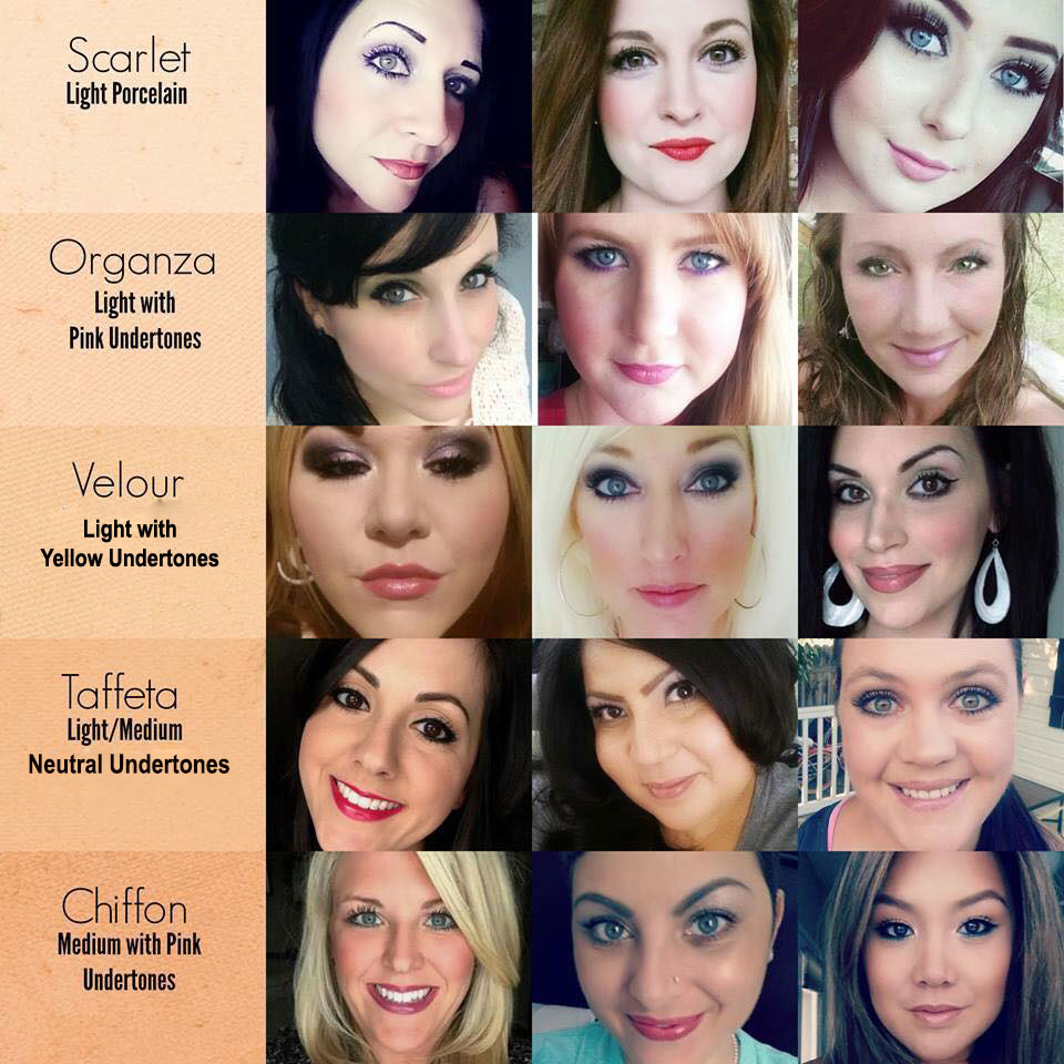younique liquid foundation colors