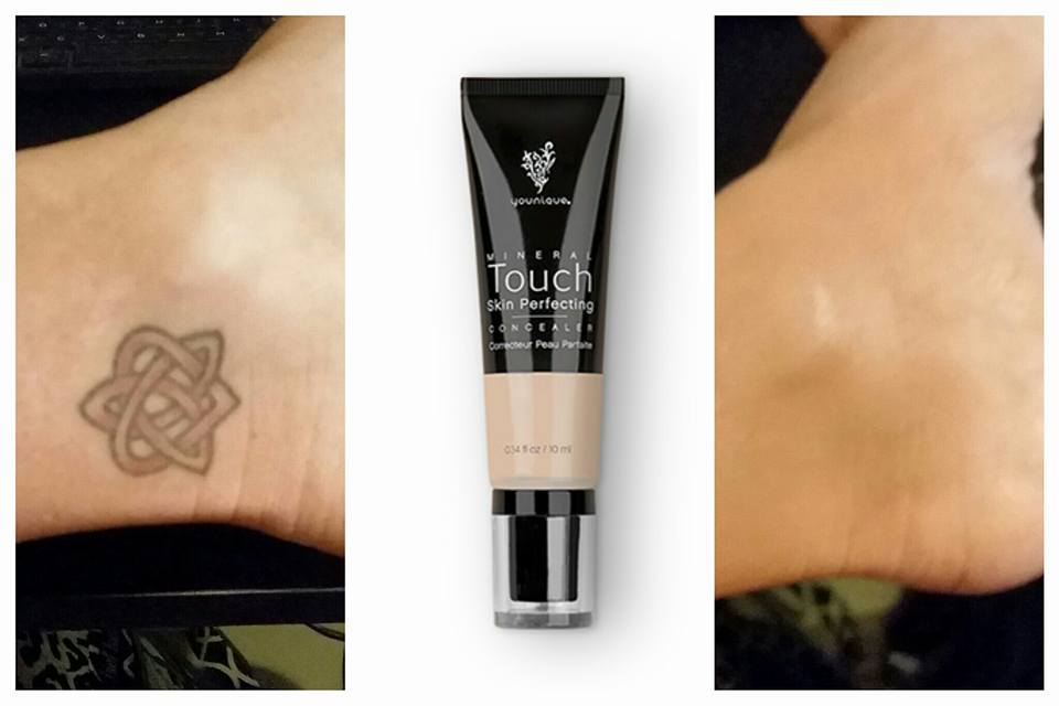 Cover tattoos with younique concealer younique makeup for Tattoo foundation cover up