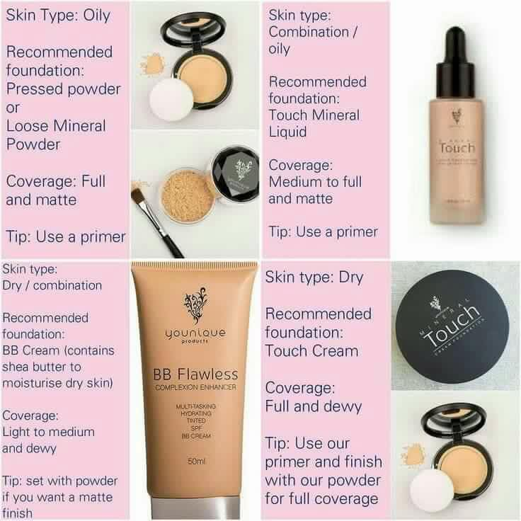 The best younique foundation for your skin type Foundations types